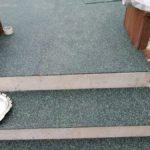 Укладка резинового рулонного покрытия Регупол