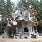 Каркасное производство из камня и дерева