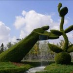 Топиарная скульптура из травы