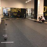 Резиновое рулонное покрытие Регупол в фитнес зале Москва Сити