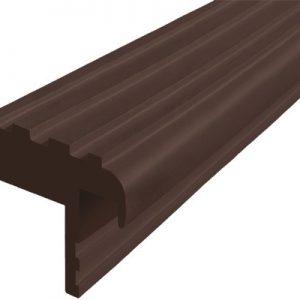 """Алюминиевый закладной профиль """"Безопасный ШАГ"""" тёмно-коричневый"""