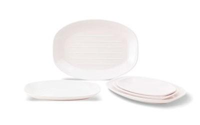 Овальные тарелки с плоским дном из меламина