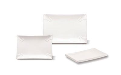 Прямоугольные тарелки с плоским дном из меламина