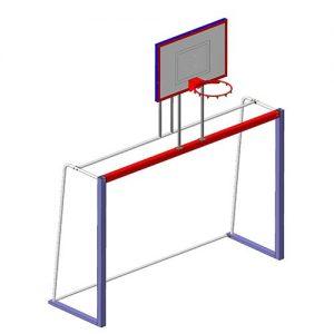 Ворота минифутбольные совмещенные с баскетбольным щитом